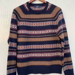 JCREW Lambswool Sweater Fair Isle Crew-neck